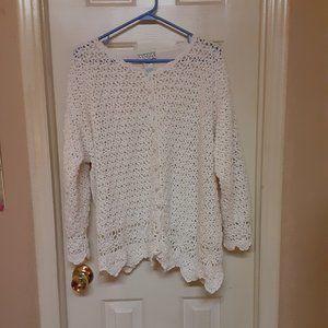 Vintage Venezia Vitale Pearly Button Up Sweater
